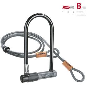 Kryptonite KryptoLok Standard Zapięcie rowerowe + Kryptoflex czarny/srebrny